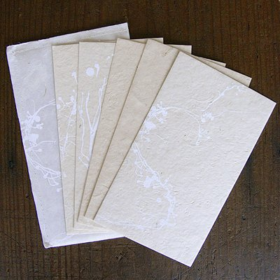 画像1: ネパール手漉紙カードセット・枯華
