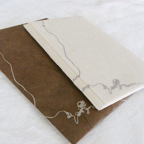画像1: ネパール手漉紙懐紙・椿 (1)