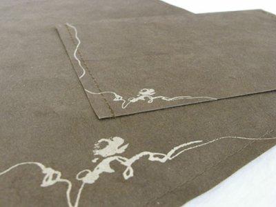画像2: ネパール手漉紙レターセット・椿