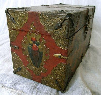 画像1: チベットアンティーク風小箱・A