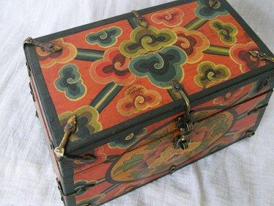 画像2: チベットアンティーク風小箱・C