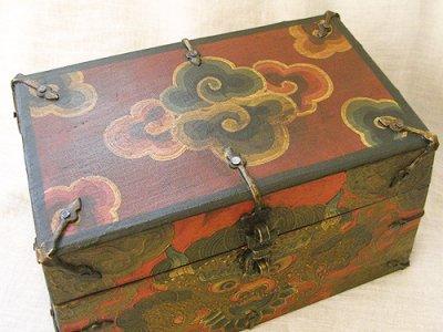 画像2: チベットアンティーク風小箱・D
