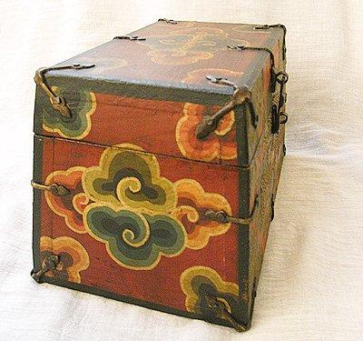 画像1: チベットアンティーク風小箱・D