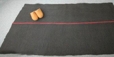 画像1: ピュアウール・フェルトラグ[茶]100×200cm