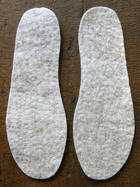 画像1: ピュアウール・フェルト中敷[銀]Sサイズ (1)