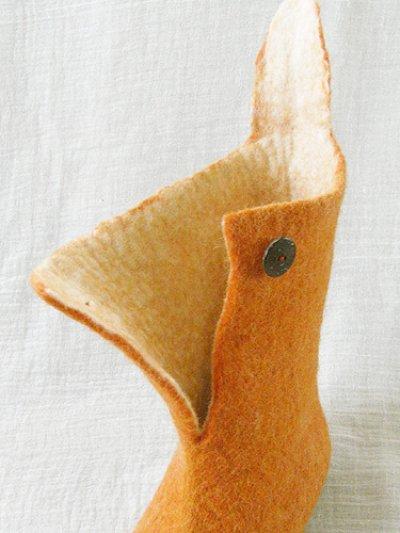 画像2: ピュアウール・フェルトルームシューズ(ロングブーツ)[葉]Mサイズ