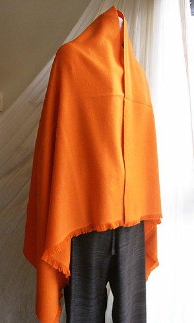画像2: カシミヤウールブランケット・橙[90×160]