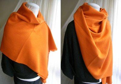 画像3: カシミヤウールブランケット・橙[90×160]