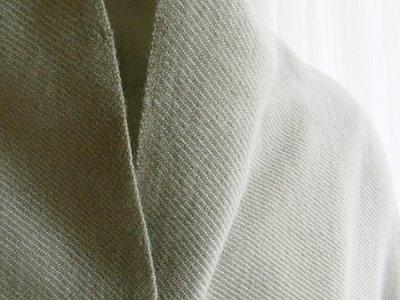 画像1: カシミヤウールブランケット・銀[90×160]