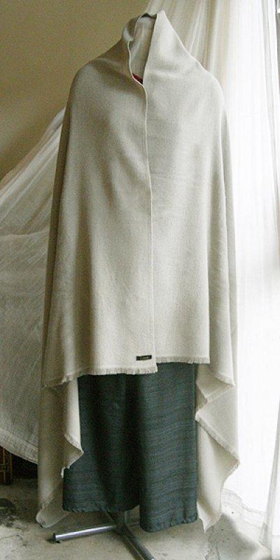 画像2: カシミヤウールブランケット・銀[115×200cm]