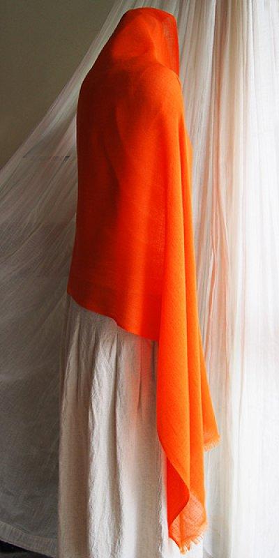 画像2: パトゥーシュストール[ダイア柄]橙