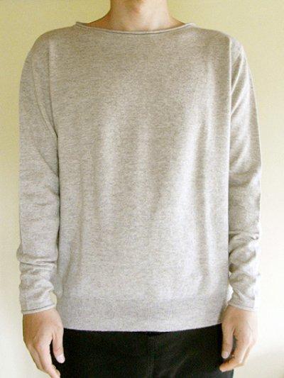 画像1: [メンズ]カシミア Vネックセーター・墨[XL]